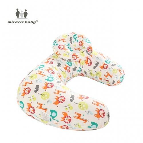 Miracle Baby Multi Function Nursing Pillow Maternity Pillow U-Shaped Breastfeeding Pillow Cotton Feeding Waist Support Cushion